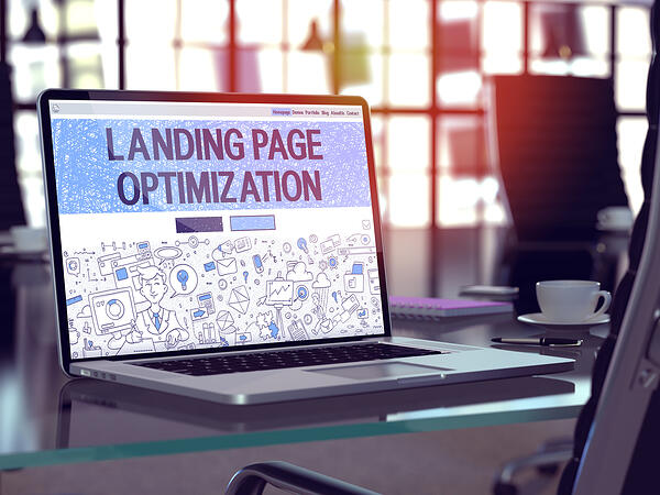 Optimize landing pages by properly using keywords during content creation