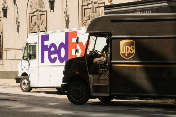 FedEx vs UPS trucks